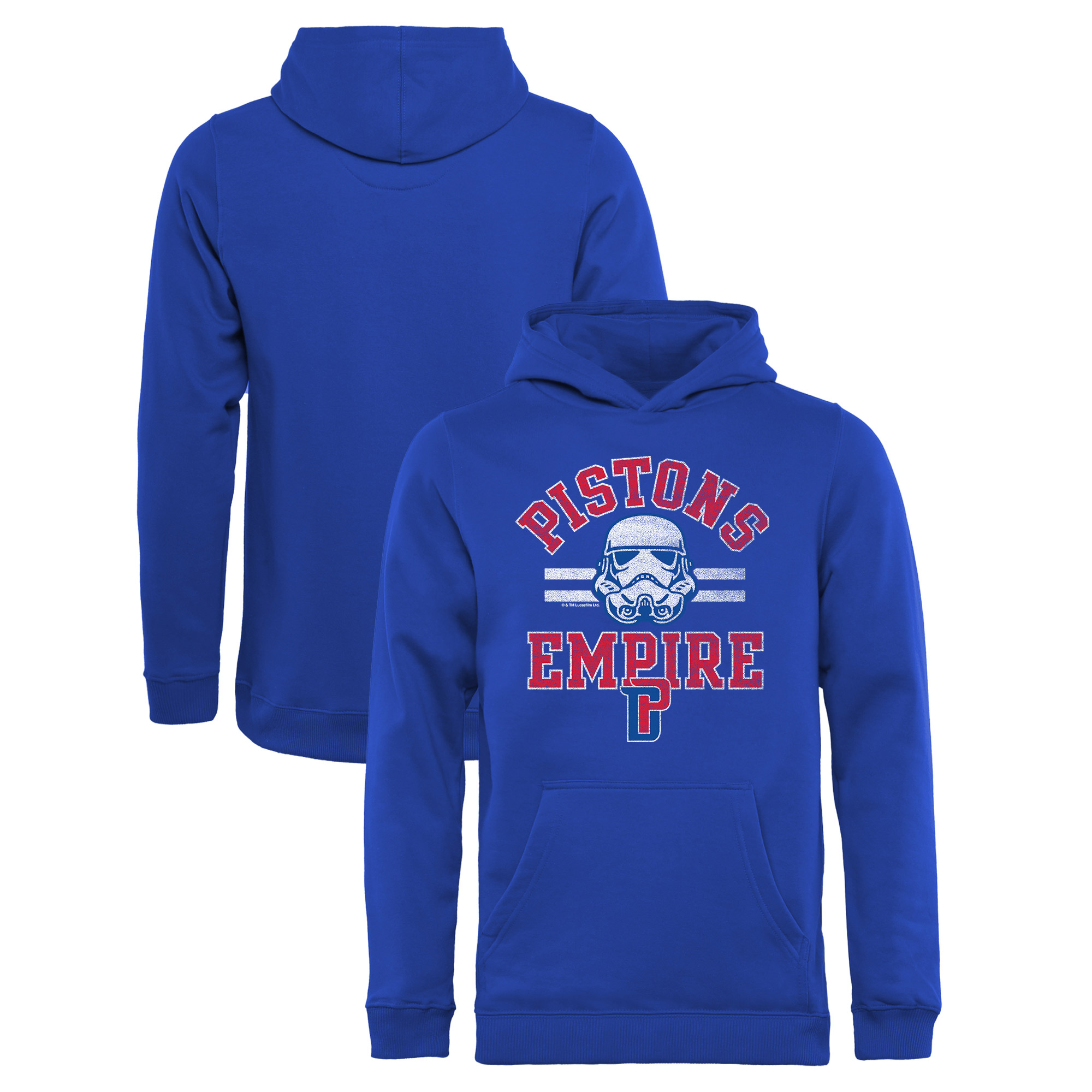 Detroit Pistons Fanatics Branded Youth Star Wars Empire Pullover Hoodie - Royal