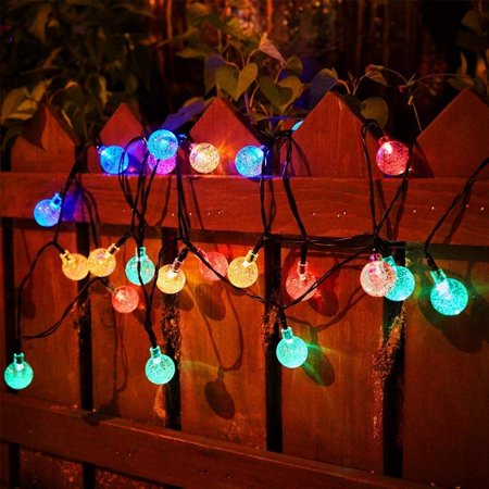 Solite Outdoor String Lights?19.7 Feet 30-LED Outdoor Fairy Solar Powered Globe String Lights, 19.7 ft, 5 Colors (Paper Globe Lights)