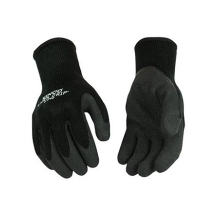 Kinco International 254752 Warm Grip Heavy Thermal Glove, Black - Small Kinco Insulated Gloves