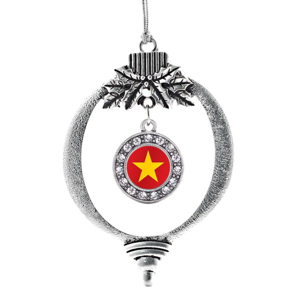 Vietnam Flag Circle Holiday Ornament