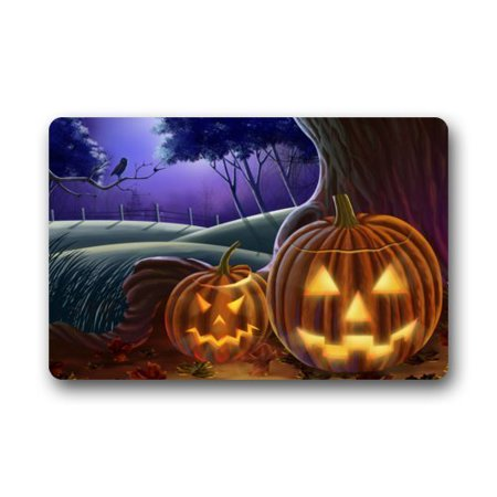 WinHome Halloween Doormat Floor Mats Rugs Outdoors/Indoor Doormat Size 23.6x15.7 inches - Level 5 100 Floors Halloween