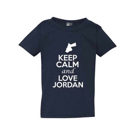 Keep Calm And Love Jordan Country People Patriotic Toddler Kids T-Shirt Tee ()