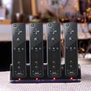 GPCT 4 Charger Charging Dock + 4 Rechargeable Batteries for Wii Remote
