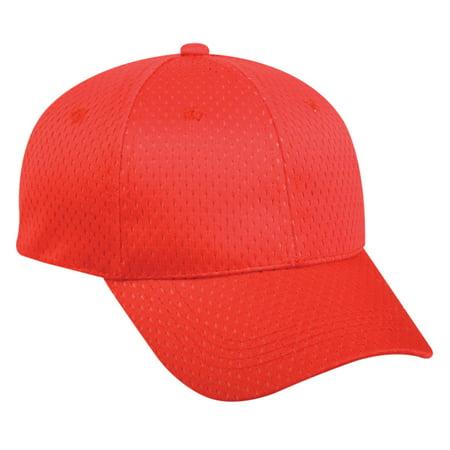 94b86224cf4 Outdoor Cap JM-123 Jersey Mesh-Red-Adult - Walmart.com