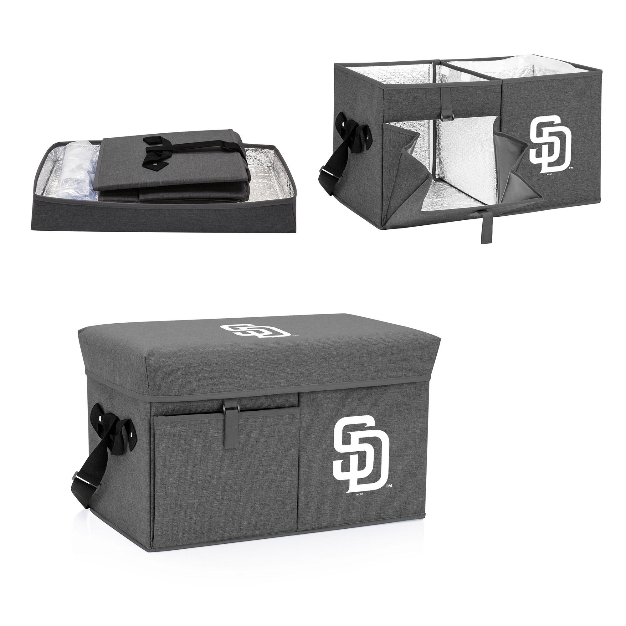 San Diego Padres Ottoman Cooler & Seat - Gray - No Size
