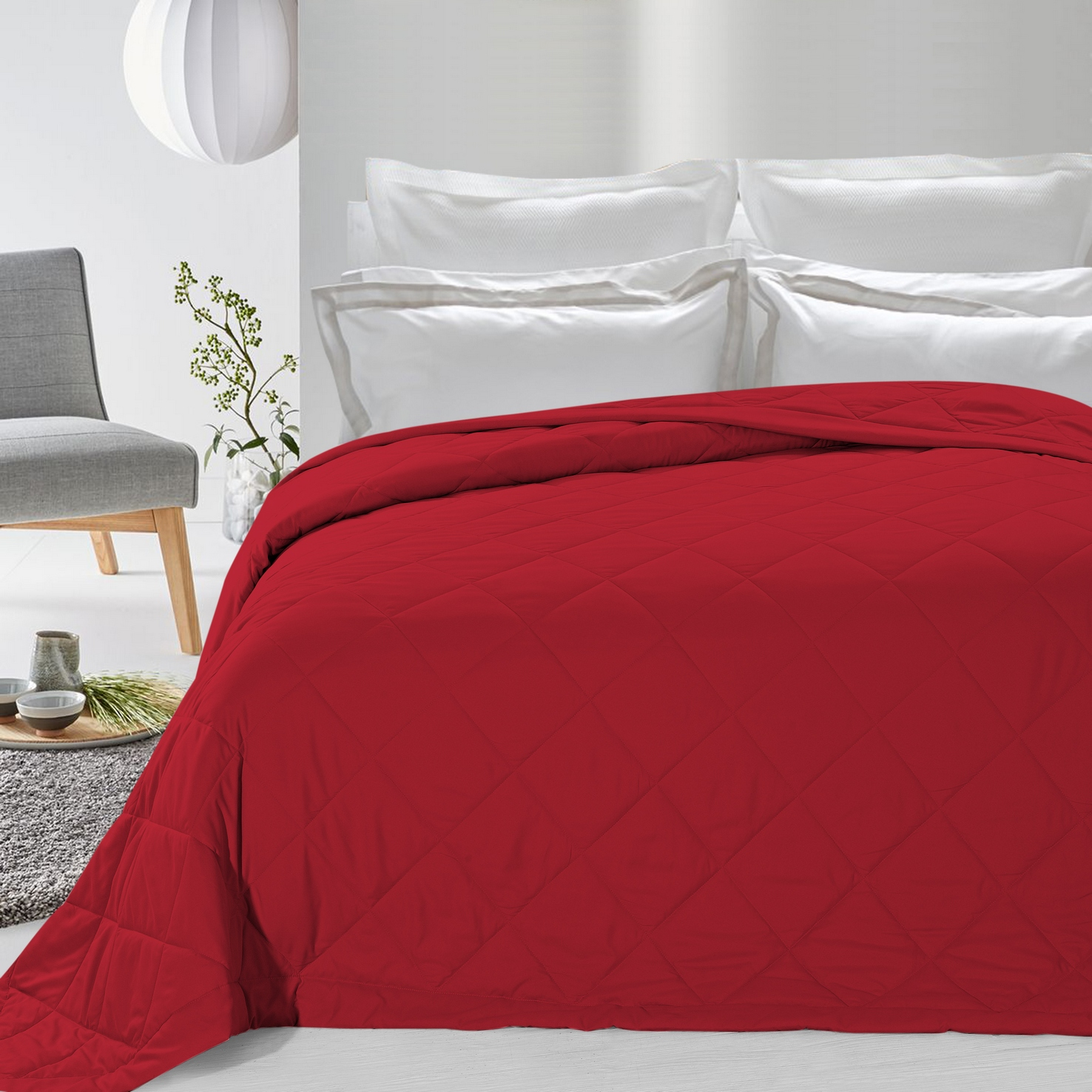 Never Down Alternative Down Blanket Red Twin