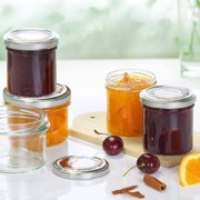 Leifheit Straight 8 oz Large Canning Jars, Clear, Set of 6