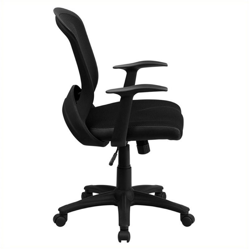 Scranton & Co Mid-Back Mesh Office Chair with Padded Seat in Black - image 1 de 2