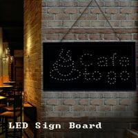 LHCER  LED Sign Board, Outdoor LED Sign,1pc Large Bright LED Shop Sign Board Neon Light Window Door Hang Sign Cafe to go