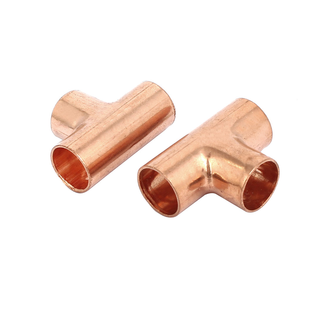 12mm Air Conditioner Copper Tee Joint Seperation Tube Connector 2pcs - image 2 de 2