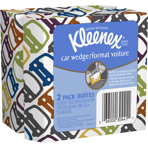 Kleenex Car Wedge Tissues, 24 sheets (Pack of 6)
