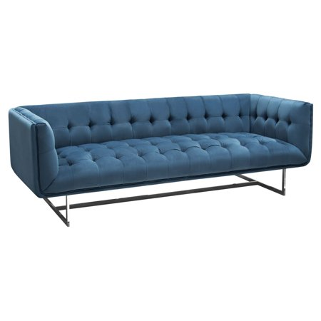 Diamond Sofa Hollywood Tufted Velvet Sofa Royal Blue