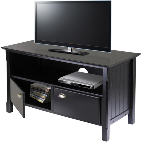 """Timber Black TV Stand, for TVs up to 46"""""""