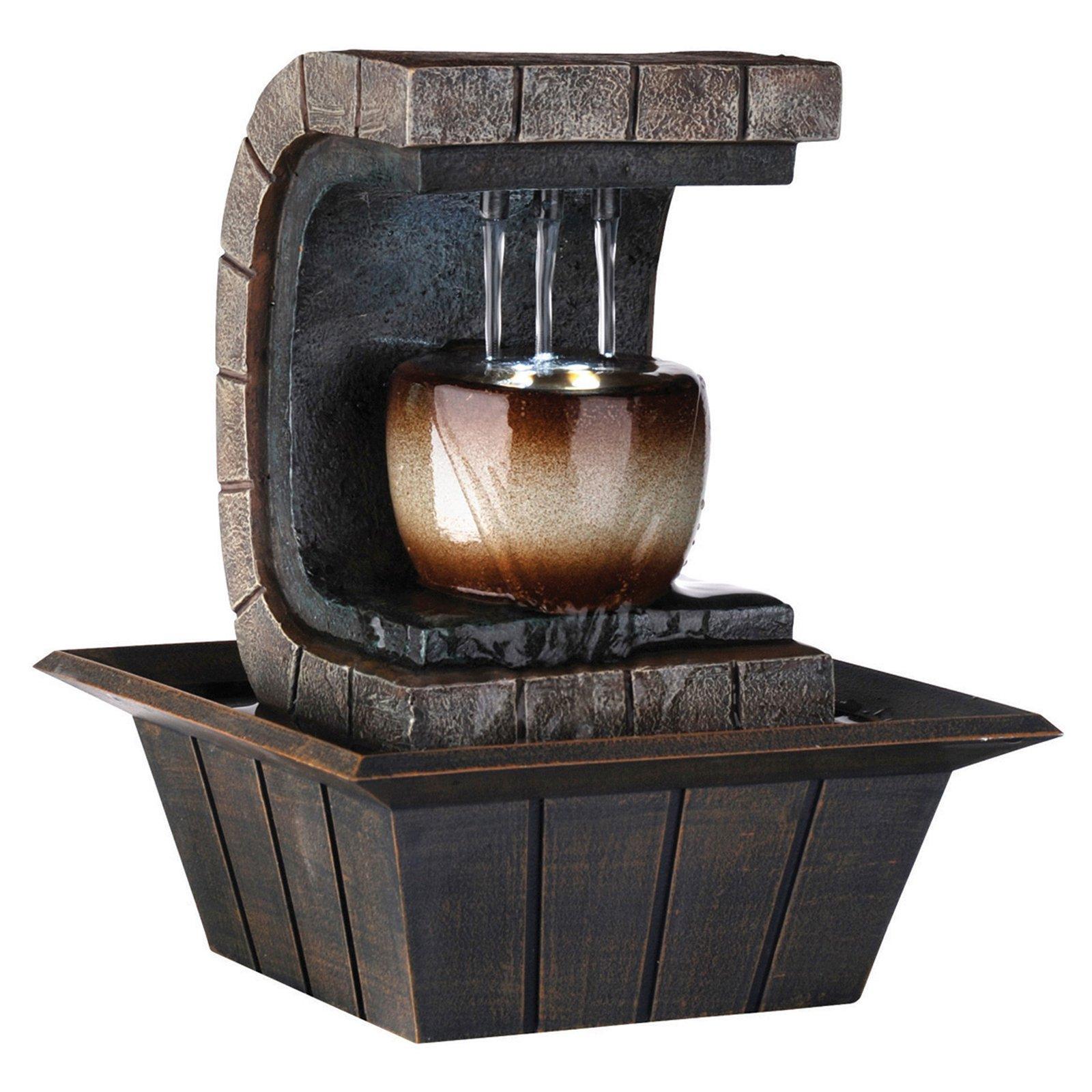 "ORE International 9.75"" Meditation Fountain with LED Light"