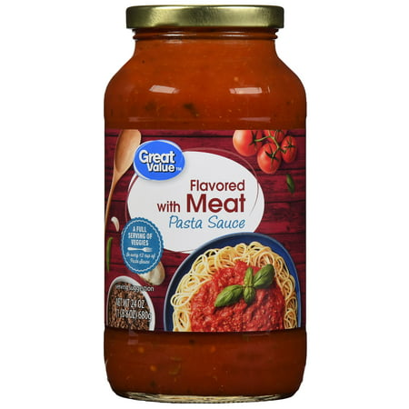 (6 Pack) Great Value Meat Flavored Pasta Sauce, 24