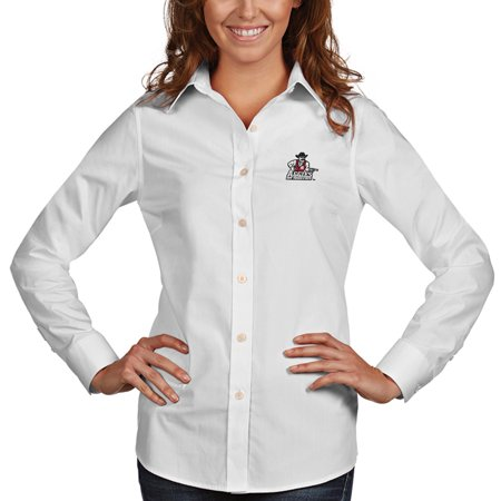 New Mexico State Aggies Antigua Women's Dynasty Woven Long Sleeve Button-Up Shirt - White
