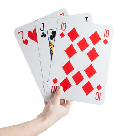 Jumbo Playing Cards Giant 8 inch x 11 inch Plastic Coated Large Card Deck, Game for Adults, Boys and Girls by Hey!