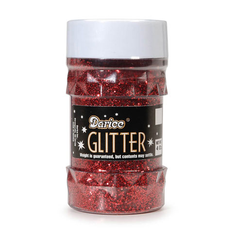 Glitter Jar - Red - Big Value - 4 ounces
