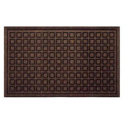 Tire Tuff Textures Blocks Doormat - Walnut