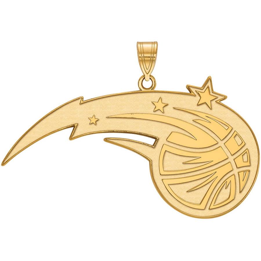 LogoArt NBA Orlando Magic 14kt Yellow Gold Extra Large Pendant