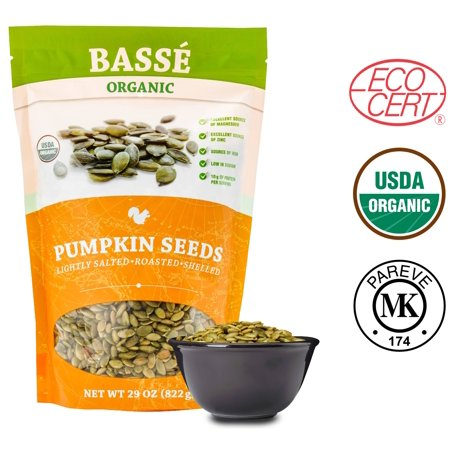 Basse Organic Pumpkin Seeds, Lightly Salted, 1.8 lbs