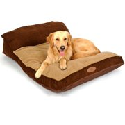 PLS Pet Siesta Deep Dish Pet Bed Brown (Medium, 25Wx35L), For Large Dogs, Durable, Removable Covers, Easy-clean, Extra-thick