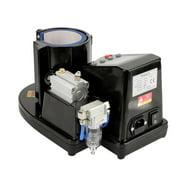 WALFRONT US Plug 110V Pneumatic Auto Mug Transfer Sublimation Heat Press Machine ST-110 Black, Pneumatic Mug Press Machine, Mug Press Machine