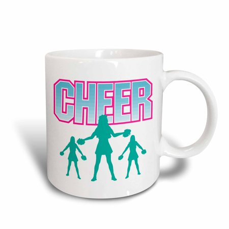 3dRose Cheerleading Cheerleader Cheer Sports Design, Ceramic Mug, 11-ounce