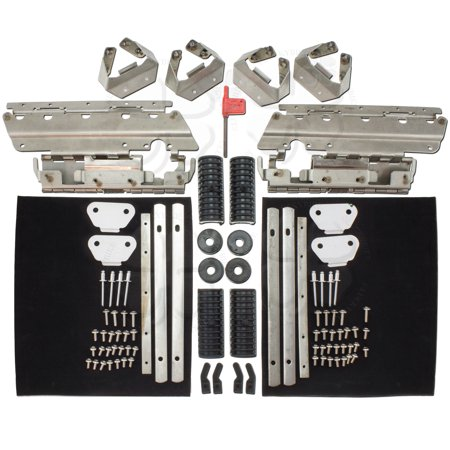 Saddlebag Hardware (Set Saddlebag Hardware Latch Cover Kit Harley Bagger Touring Road King Dyna )