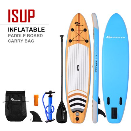 Costway 11' Inflatable Stand up Paddle Board Surfboard SUP W/ Bag Adjustable Fin Paddle