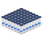 """Pleated Poly Sediment Water Filter Cartridge Standard 2.5x10"""" 50 Micron 50 Pack"""