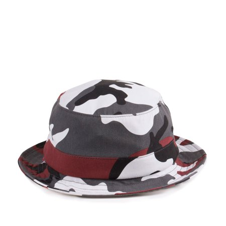 Supreme Urban Camo Bucket Hat White/Black-Red 32915 ...