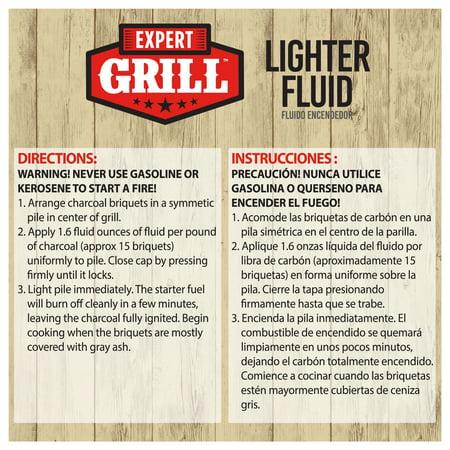 Expert Grill Charcoal Lighter Fluid, Premium Odorless Lighter Fuel, 64 Oz