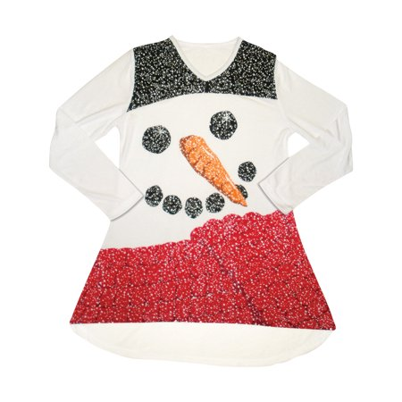 Snowman Swing Top - Christmas Holiday Style Attire](Christmas Attire)