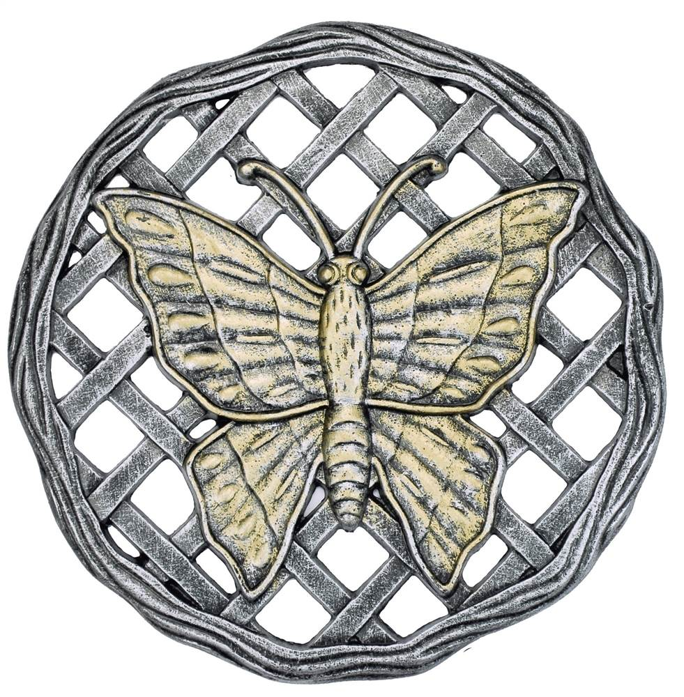Butterfly Stepping Stone in Antique Pewter Finish Set of 6 by Oakland Living