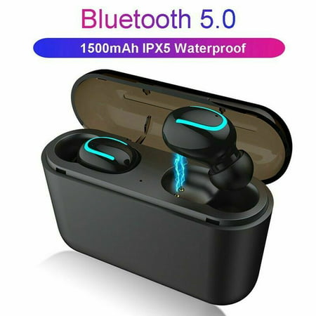 Tagital Mini Wireless Earbuds Bluetooth 5.0 Earpiece Headphones Headsets with Built-in Mic and Portable Charging Case for iPhone Samsung