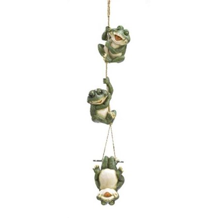 Zingz & Thingz 57070017 Frolicking Frogs Hanging Garden Sculpture (Frog Garden Sculpture)
