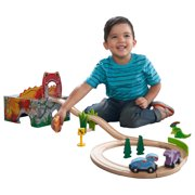 KidKraft Adventure Tracks™ Dino World T-Rex Tremor Cave with 15 Accessories Included