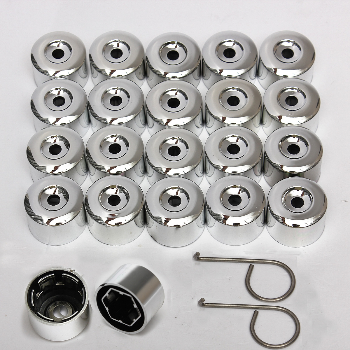 Only To 17mm carwheelnut Chrome Alloy Wheel Looking Nut Bolts Covers Caps For Vw Golf Passat Polo