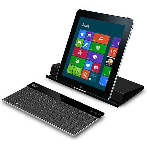"Adesso BT3 Aluminum Bluetooth Keyboard in Microfiber Case 11"" Stand Convert"