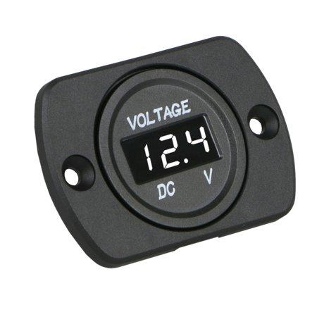 TSV 12V-24V Car Marine Motorcycle LED Digital Voltmeter Voltage Meter Battery