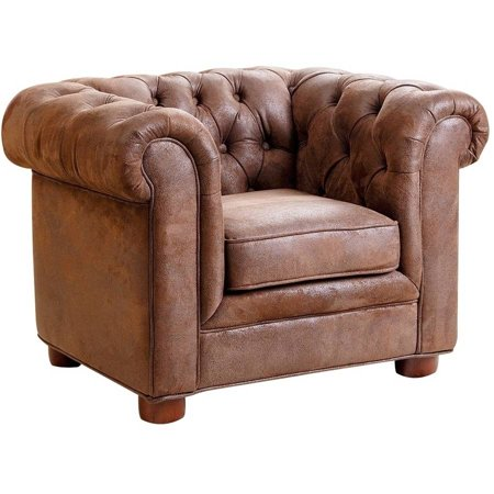 Devon Claire Antique Brown Velvet Ter Kid Mini Chair
