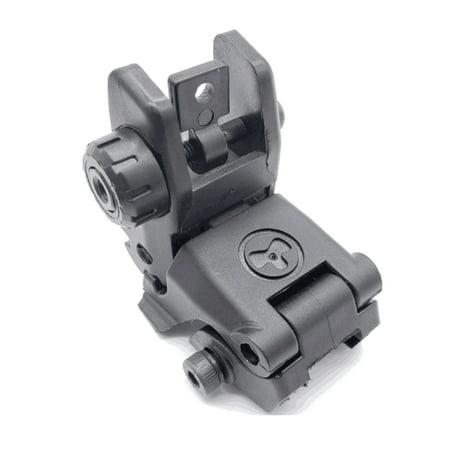 Cap Gun Pistol (Outdoor Tactical Folding Front and Rear Flip Up Backup Sights Set Cap Pistol Appearance Change)