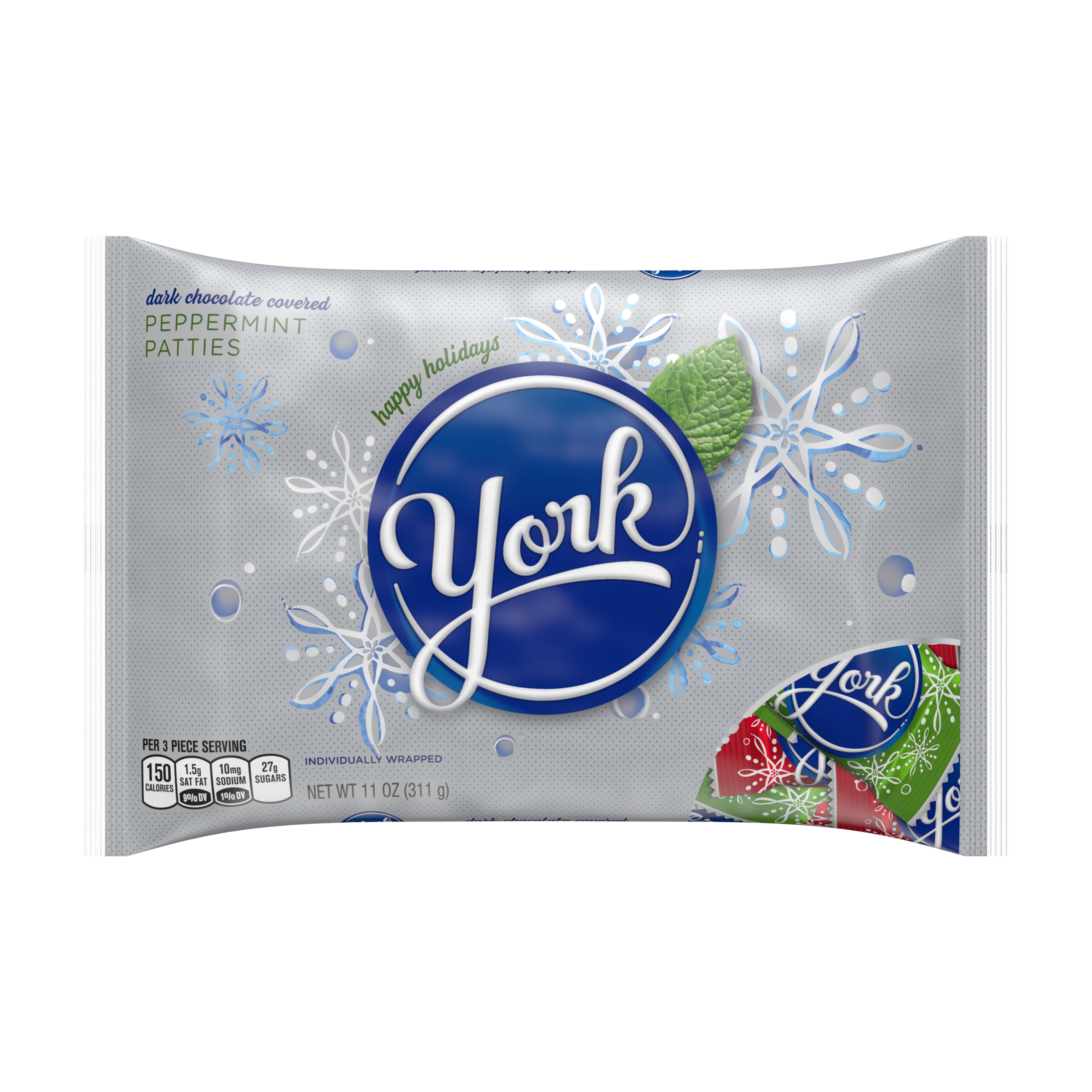 YORK Holiday Peppermint Patties, 11 oz