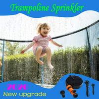DecorX Trampoline Sprinkler, Outdoor Water Park Sprinkler for Kids Summer Fun, Outside Water Toy Attached on Trampoline Safety Net Enclosure39ft