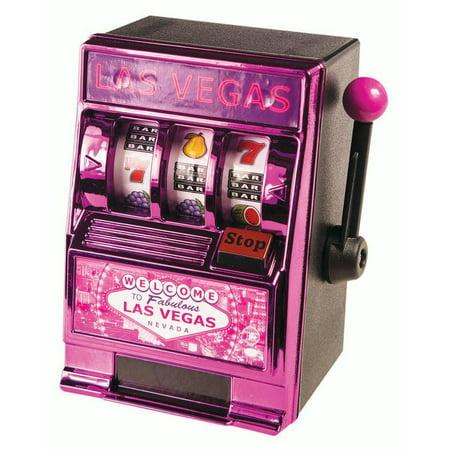 Las Vegas Pink Slot Machine Piggy Bank Realistic Game Storage Gift - Piggy Bank Pink