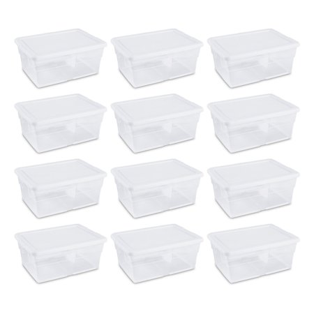 Sterilite 16 Quart Clear Stacking Storage Container Tub, 12 Pack | 16448012 - Cheap Store