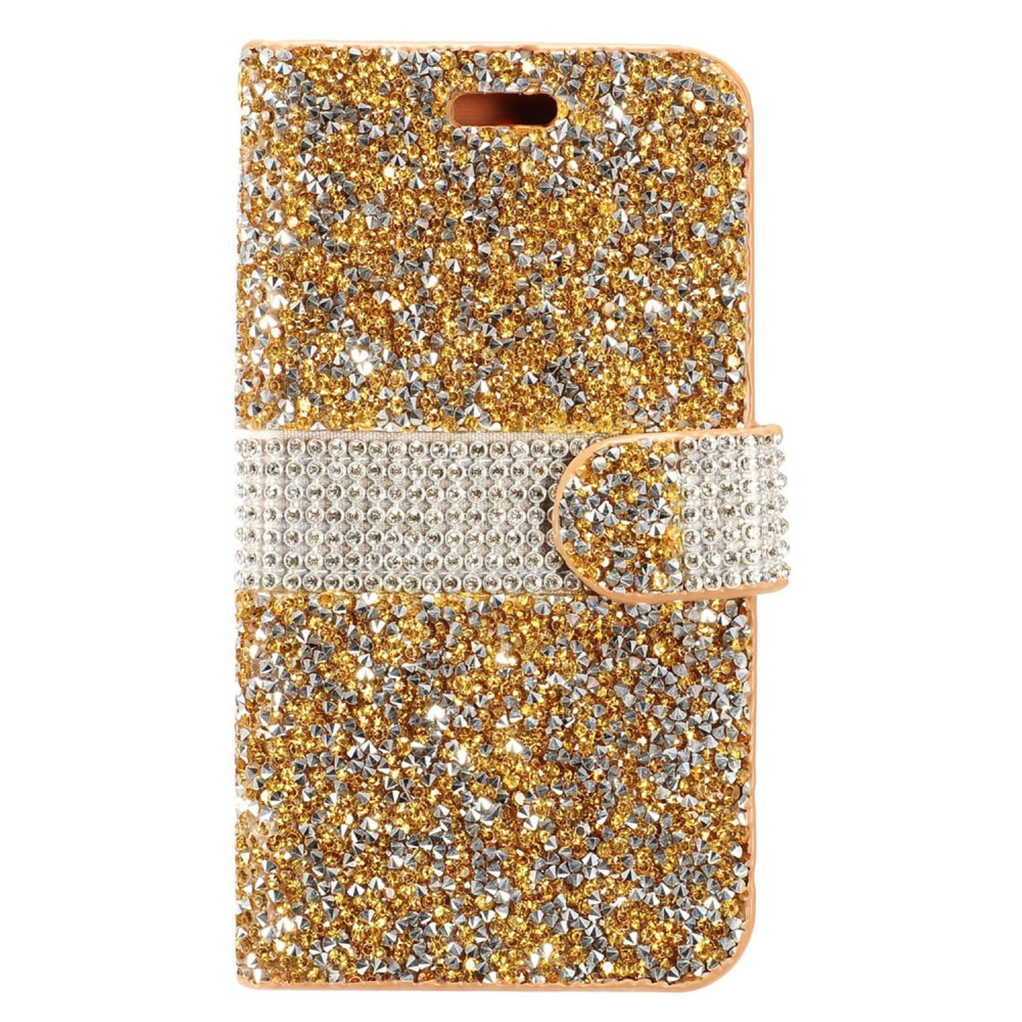 Samsung Galaxy Note 8 Case, by Insten Folio Flip Rhinestone Diamond Bling Leather Wallet Flap Pouch Case Cover for Samsung Galaxy Note 8