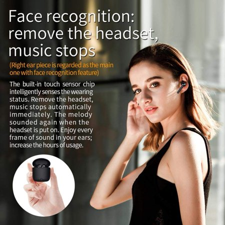 Bluetooth 5.0 Wireless Earbuds, TWS Wireless Earbud Headphones in-Ear Earphones with Charge Case, Mini Car Headset Built-in Mic for Cell Phone/Running/Android - image 3 of 7