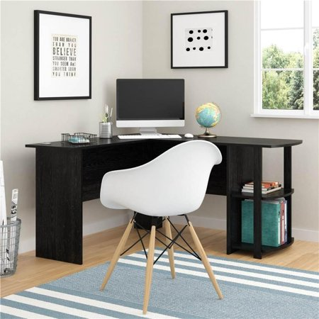 Ktaxon L-Shaped Corner Computer Home Office Desk Furniture- Black Best Choice Products
